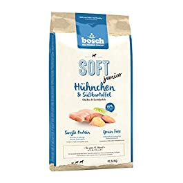bosch Pet Food HPC SOFT Adult Chicken & Banana | Semi-moist dog food for adult dogs of all breeds | Single Protein | Grain Free