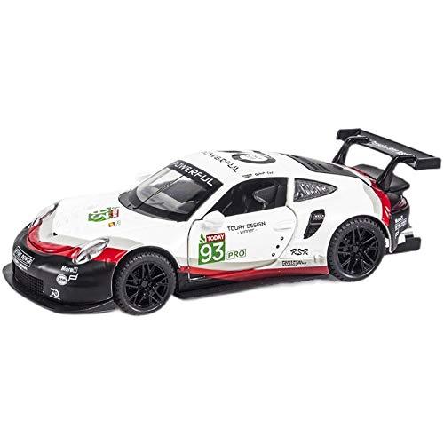 Auto modelo 1:32 Carman 911 Rsr, Coche Deportivo De Aleación, Vehículos De Juguete, Modelo De Juguete De Metal, Colección De Simulación, Juguetes Para Niños, Regalos