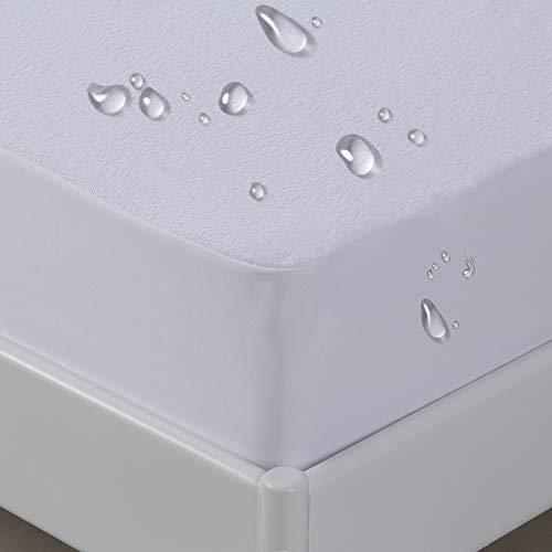 Amazon Brand - Umi - Protector de colchón Impermeable, algodón,colchón Laterales Son Impermeables -90x200cm