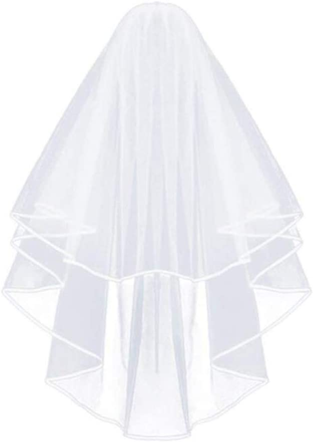erioctry 1PCS Women Bridal Veil with Comb Two-Layer Wedding Veils for Wedding Ceremony Use