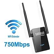 USMSRM US750 750Mbps WiFi Range Extender 360 Degree Full Coverage External Antenna High Gain Dual Band Range Extender
