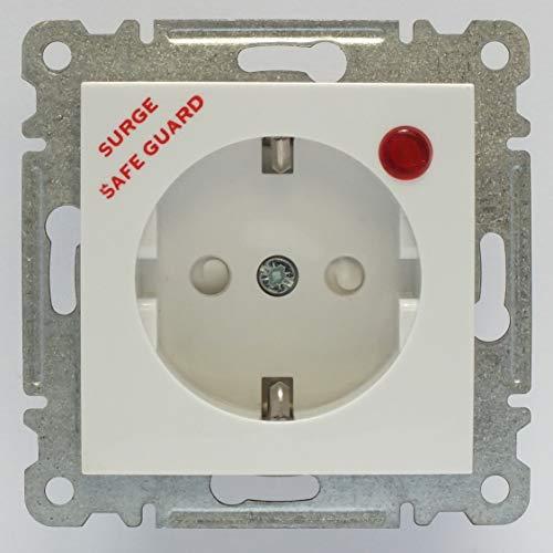 Karea Überspannungsschutz - Steckdose, VDE Zertifiziert, Unterputz mit Steckklemme, in weiß