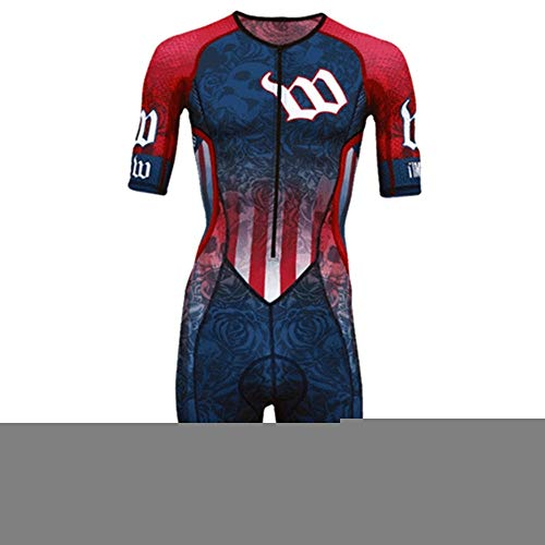 NHGFP QPM Jersey De Triatlón Skinsuit Vestimenta De Ciclismo Salpicaduras Hombre En Bicicleta Conjunto De Cuerpo Juego De Los Deportes De Velocidad MTB Mono (Color : 1, Size : XXL)