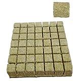 Ohomr Rockwool Grow Cubes Semenzaio Block Idroponica Fuori Suolo Coltivazione Compress Base per Plant Growth Style3 50pcs