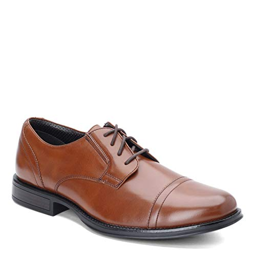 Dockers Mens Garfield Dress Cap Toe Oxford Shoe - Wide Widths Available  Tan  8.5 W