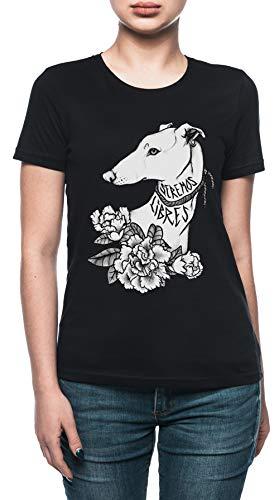 Vendax Seremos Libres - Greyhound T-Shirt Donna Nero