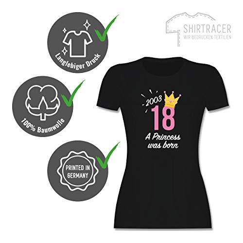 Geburtstag – 18 Geburtstag Mädchen Princess 2001 – S – Schwarz – L191 – Damen T-Shirt Rundhals - 4