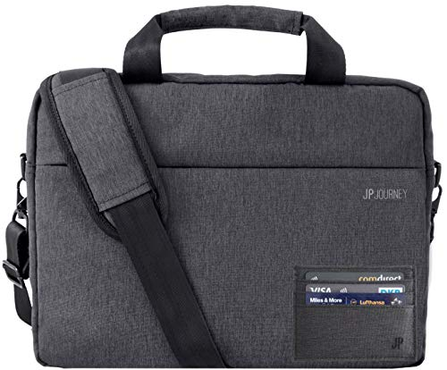 JP Journey - Borsa a tracolla per tablet iPad fino a 11 pollici, RFID, da uomo e da donna, colore: Grigio