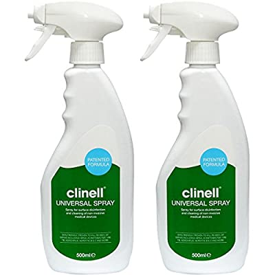 Clinell Universal Disinfectant 500ml Trigger Spray Bottle Kills 99.999% Bacteria, 2 x 500ml Bottles by Clinell