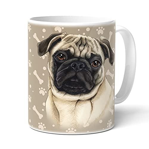 power gift mops, Kaffeetasse mit Spruch, Becher mit Hundemotiv, Geschenk für Hunden Liebhaber, Fröhliche Texte, hohe Qualität und lange Lebensdauer, Lieblingsbecher.