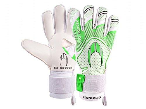 HO Soccer SSG Supremo Negative Torwarthandschuhe Unisex Erwachsene, Unisex, 0510675, Weiß/Grün, 44,5