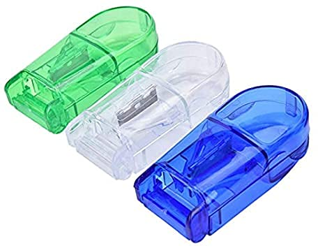 AY3S Travel Medicine Pill Case with Pill Cutter, Moisture-proof First Aid Organizer Dispenser – PACK OF 1