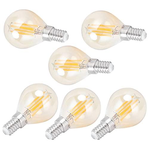 Crisist Bombilla LED, Bombilla G45 Filamento Dorado Iluminación Interior Vintage para Dormitorio para Oficina para el hogar