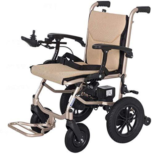 WXDP Silla de Ruedas autopropulsada,Movilidad eléctrica, eléctrica, Plegable, Ligera, extraíble, con batería de Litio, pasamanos Ajustable para Personas ma