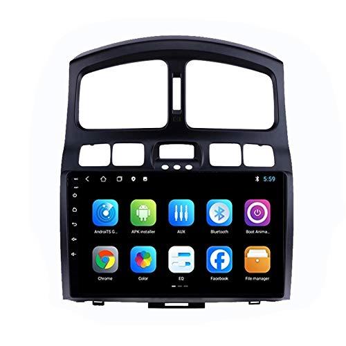 2 DIN Car Stereo Radio De Coche Soporte Llamadas Manos Libres/BT/Cámara De Visión Trasera/1080P Video/FM Radio, para Hyundai Classic Santa Fe 2006-2015 Navegación GPS,Quad Core,WiFi 1+32