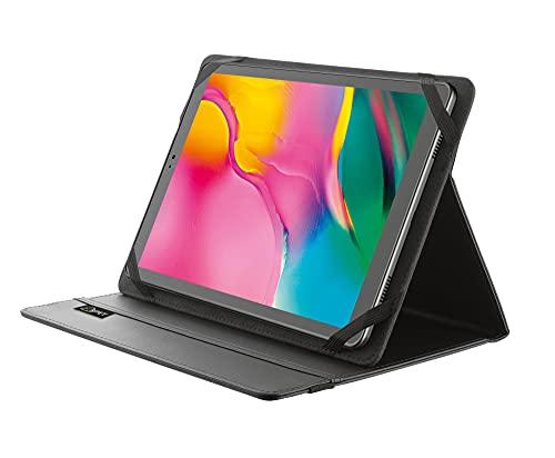 Trust Mobile Primo Funda Universal para Tabletas de 10', Folio Reciclada, Carcasa con Función Soporte - Negro