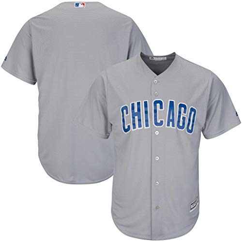 Majestic Chicago Cubs MLB Mens Cool Base Replica Gray Jersey Big & Tall Sizes (5XL)