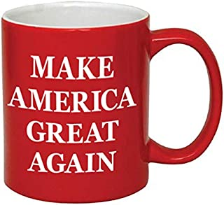 P&B Donald Trump, Make America Great Again Ceramic Coffee Mugs (11 oz, Red/Maga)