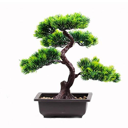 Artificial Plants Bonsai Pine Tree,Potted Plant Ornament Bonsai Plastic Simulation Bonsai DIY Decorative Bonsai Desk Display Fake Tree Living Room Garden Decoration Decor
