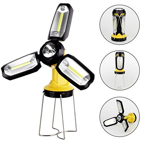 2en1 LED Recargable COB L/ámpara Que Acampa LILICAT/® Linterna Luz de Trabajo de inspecci/ón con Clip magn/ético Negro para Emergencia//Taller//Autom/óviles//Camping//Casera//Garaje//Coche