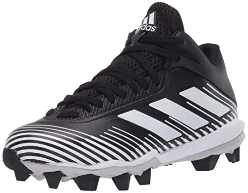 adidas unisex child Freak Molded Cleats Football Shoe, Black/White/Grey, 6 Big Kid US