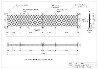 ゲート工業 アルミゲート 高さ1.8m 間口10.8m 両開き 18AYW-108-27