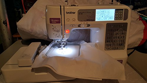 Brother SE400 Combination Computerized Sewing and 4x4 Embroidery Machine With 67 Built-in Stitches,...