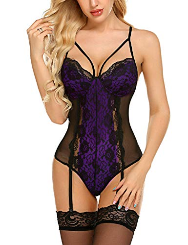 wearella Women Lace Lingerie Set...