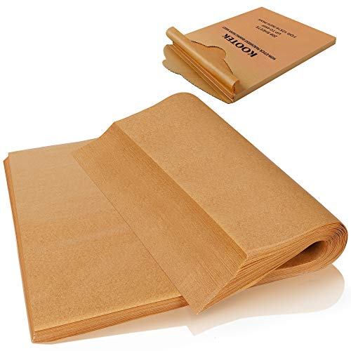 Kootek 200 Pcs Parchment Paper Sheets, 12 X 16 Inch Non-Stick Baking Sheet, Pre-cut Parchment Liner Unbleached Baker Papers for Grilling Air Fryer Steaming Cooking Bread Cake and Cookies