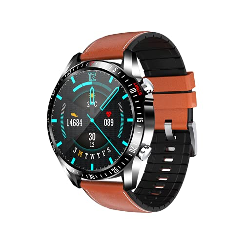 Smartwatch para Hombre Mujer, Reloj Inteligente Impermeable IP67 con Pulsómetro, Llamadas Bluetooth, Monitor de Sueño, Podómetro Pulsera Smart Watch, Reloj Deportivo per Android iOS,D