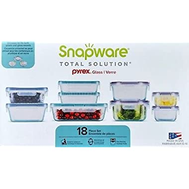 Snapware 18-piece Pyrex Glass Food Storage Set (Purple & Blue)
