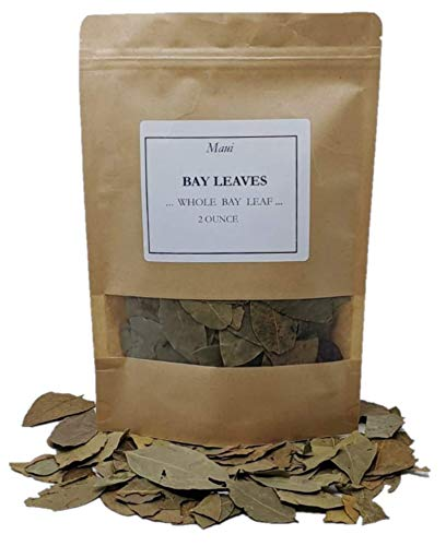 Maui Whole dried bay leave. 2 OZ - Fresh - Natural - Non Gmo - Full Leaf ( new package )