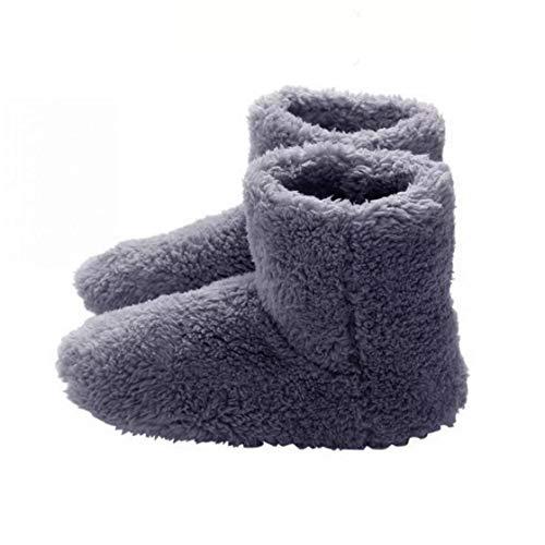 Nicedier Climatizada Zapatillas Calientes USB Calefacción Zapatillas de Invierno calefacción Plantillas para la Buena Noche de sueño 5v Calentador Casa y jardín