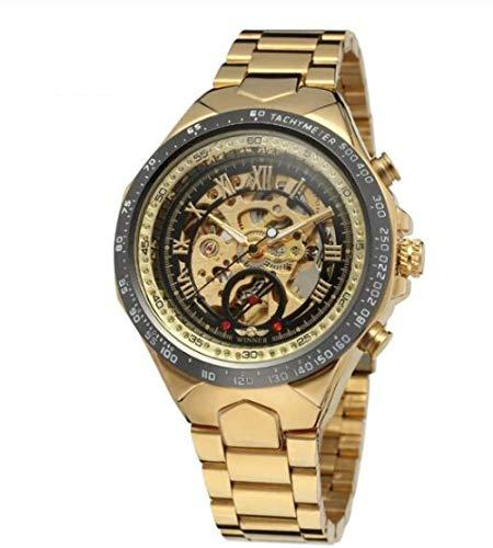 Orologi da polso Orologio Da Uomo In Acciaio Inossidabile Fashion Life Waterproof Business Sports Watch-Golden A