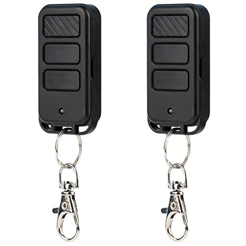 2 for Liftmaster 371LM 373LM Keychain Garage Door Opener Remote (2005-Current Purple Learn Button)