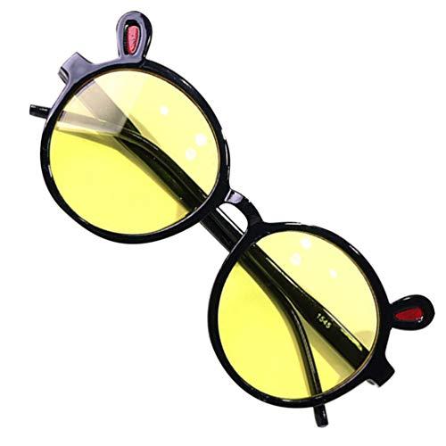 KESYOO Crianças óculos de Sol Polarizados Crianças óculos de Festa Anti Nevoeiro óculos de Proteção Uv óculos de Plástico Protetor de Olho para O Verão Crianças óculos Foto Prop Preto