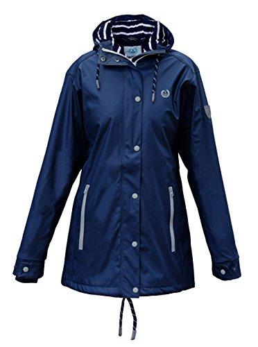 MADSea Damen Regenmantel Friesennerz dunkelblau wasserdicht, Größe:42, Farbe:Navy