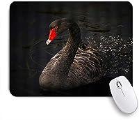 NINEHASA 可愛いマウスパッド ブラックスワン美しいエレガントな鳥クリエイティブアニマル3Dデジタルプリント ノンスリップゴムバッキングコンピューターマウスパッドノートブックマウスマット