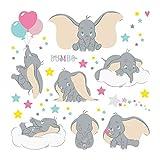 1art1 Dumbo - The Flying Elephant Walt Disney Wand-Tattoo | Deko Wandaufkleber für Wohnzimmer Kinderzimmer Küche Bad Flur | Wandsticker für Tür Wand Möbel/Schrank 30 x 30 cm
