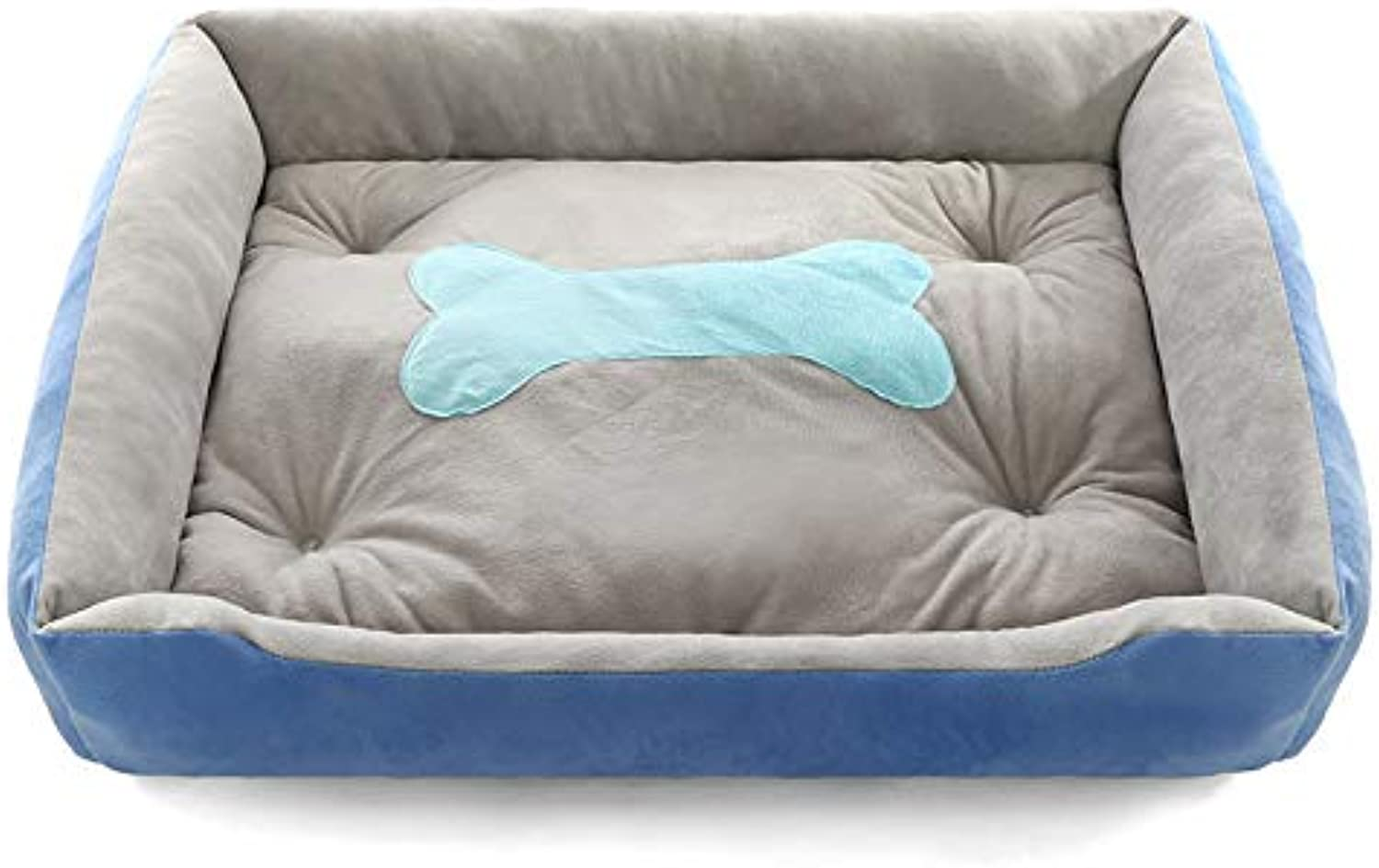 Kennel, Large, Medium and Small pet Supplies, Warm Dog Bed Thickened cat Litter Kennel (color   bluee, Size   S)
