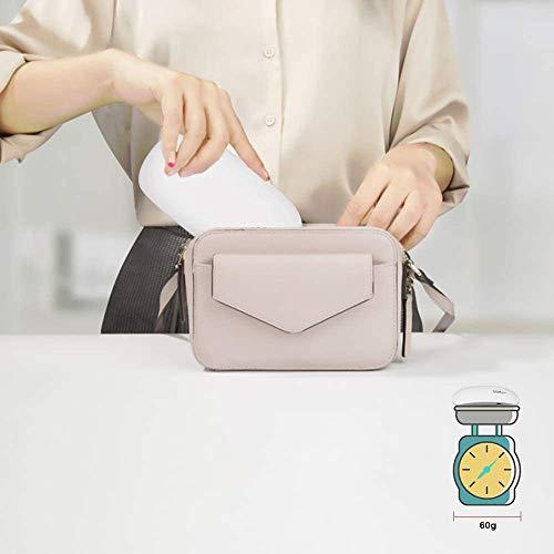 TAMETZONA lampara manicura secador portatil uñas gel LED UV 8W manicura pedicura uñas profesional semi permanente 30s / 45s / 60s (BLANCO)