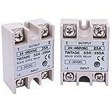2PCS TWTADE SSR-25 DA 25A 3-32V DC / 24-380V AC SSR Single Phase Solid State Relay ssr-25da