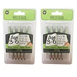 Channie's Easy-to-Hold Write Size Wooden Lead No2 Presharpened Graphite Kids' Pencils for 3-6 Year Olds, 2 Pack (5 Pencils Each)