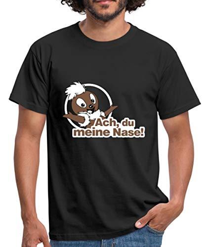 Sandmännchen Pittiplatsch ACH Du Meine Nase Männer T-Shirt, XL, Schwarz