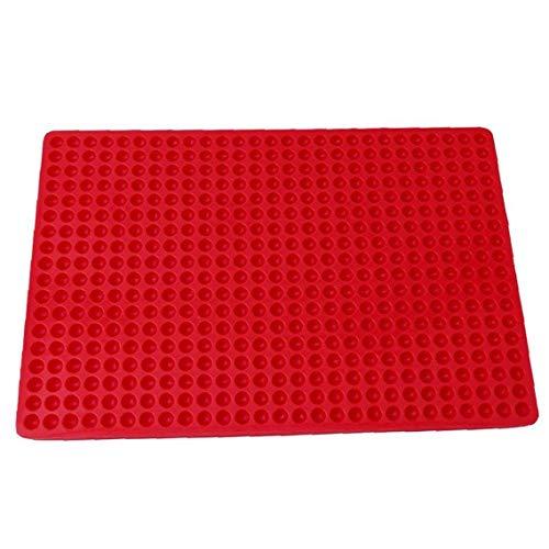 VlugTXcJ Silikon-Backmatten Multifunktionale Silikon-Auflage Ofen backen Ware Anti-Rutsch-Matte Geschirr hitzebeständige Isolierung Pads Küche Wesentliche Gadgets-1pc Red