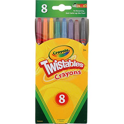 Crayola Bulk Buy Twistables Extreme Crayons 8 Pack -Bright Neon (3-Pack)