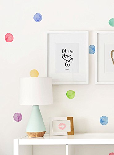 Simple Shapes Watercolor Dots Wall Stickers - (Rainbow)