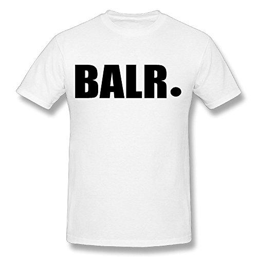 Arnoldo Blacksjd heren nieuwe Balr Bai Ronaldo T-Shirt - L wit
