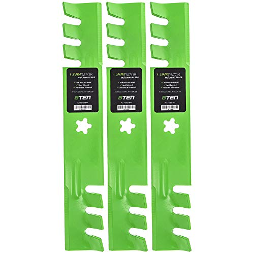 8TEN LawnRAZOR Mulching Blade 46 Inch Deck for Husqvarna YTH 1746 2046 157033 159705 176084 170698 532176084 3 Pack