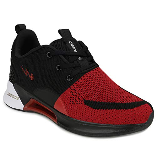 Campus Men's California D.RED/BLK/SIL Running Shoes -6 UK/India